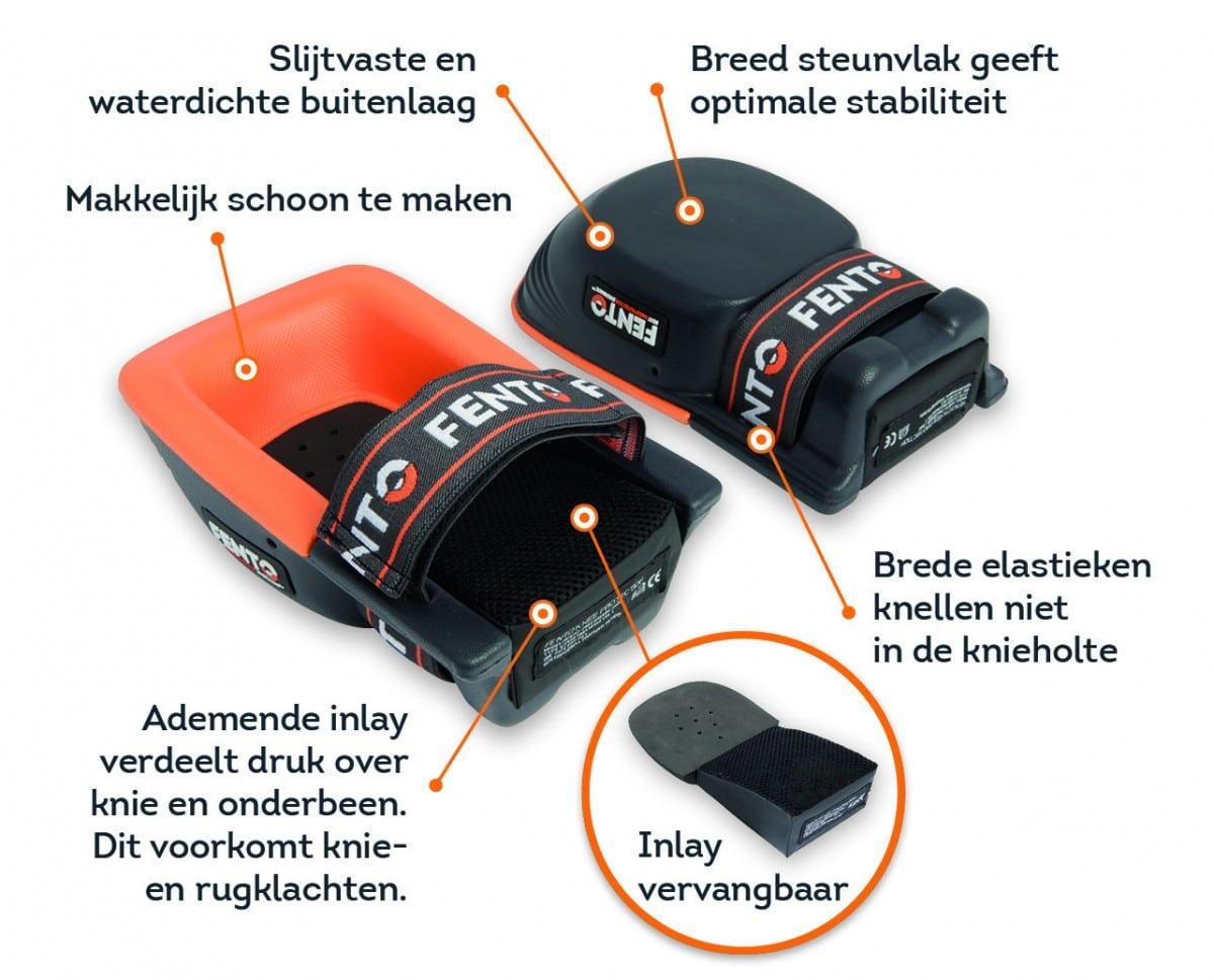 Uitleg kniebescherming van Fento