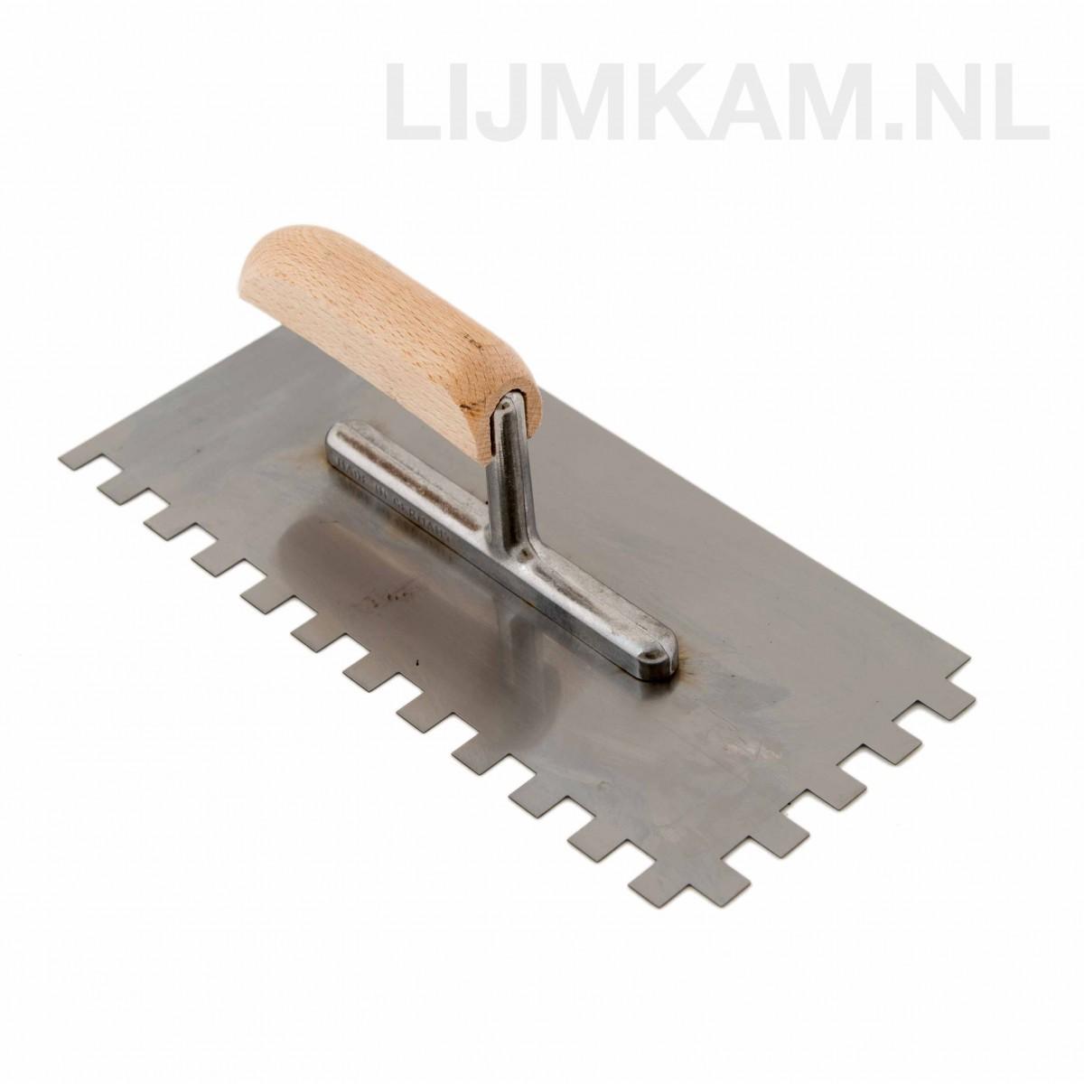 Lijmkam - lijmspaan met houten handvat