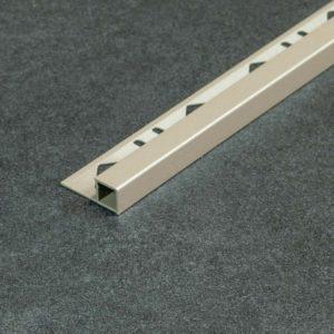 Tegelprofiel Aluminium Vierkant Mat Basalt Grijs - Lengte 2,50m