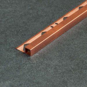 Tegelprofiel Aluminium Vierkant Antiek Koper Mat - Lengte 2,50m