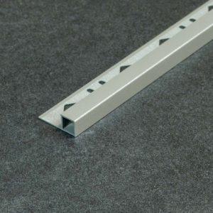 Tegelprofiel Aluminium Vierkant Mat Grijs - Lengte 2,50m