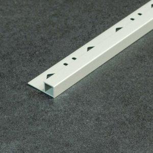 Tegelprofiel Aluminium Vierkant Mat Kiezel Grijs - Lengte 2,50m