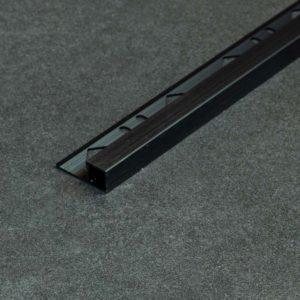Tegelprofiel Vierkant Aluminium Mat Zwart Geborsteld - Lengte 2,50m