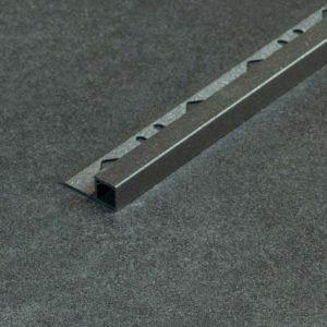 Tegelprofiel Aluminium Vierkant Mat Antraciet - Lengte 2,50m