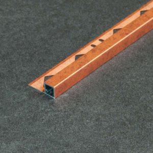 Tegelprofiel Aluminium Vierkant Mat Verweerd Koper - Lengte 2,50m