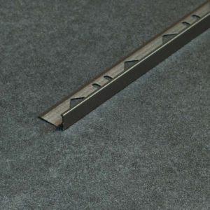 Tegelprofiel Aluminium Recht Mat Umbra - Lengte 2,70m