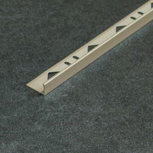 Tegelprofiel Aluminium Recht Mat Basalt - Lengte 2,70m