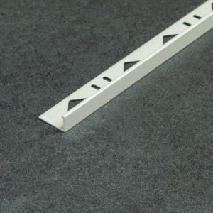 Tegelprofiel Aluminium Recht Mat Kiezel Grijs - Lengte 2,70m