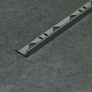 Tegelprofiel Aluminium Recht Mat Antraciet - Lengte 2,70m