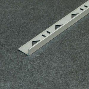 Tegelprofiel Aluminium Recht Mat Grijs - Lengte 2,70m