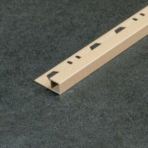Tegelprofiel Aluminium Vierkant Mat Zand Bruin - Lengte 2,50m