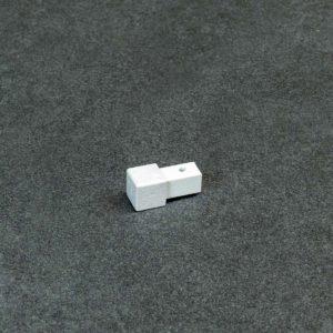 Hoekstuk Uitwendig/Inwendig Vierkant Aluminium Beton Look Mat