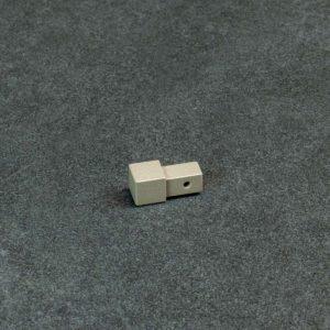 Hoekstuk Uitwendig/Inwendig Vierkant Aluminium Basalt Grijs Mat