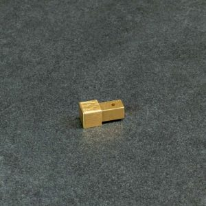 Hoekstuk Uitwendig/Inwendig Vierkant Aluminium Goud Geborsteld