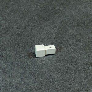 Hoekstuk Uitwendig/Inwendig Vierkant Aluminium Kiezel Grijs Mat