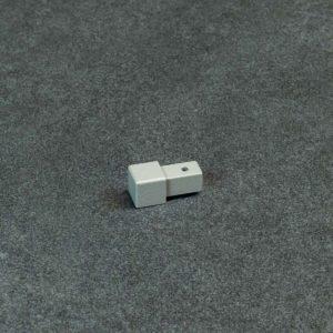 Hoekstuk Uitwendig/Inwendig Vierkant Aluminium Grijs Mat