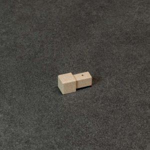 Hoekstuk Uitwendig/Inwendig Vierkant Aluminium Zand Bruin Mat