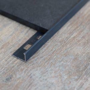 OX Tools Aluminium tegelprofiel L-vorm antraciet 2,70m lengte