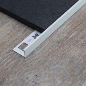 OX Tools Aluminium tegelprofiel L vorm mat zilver 2,70m lengte