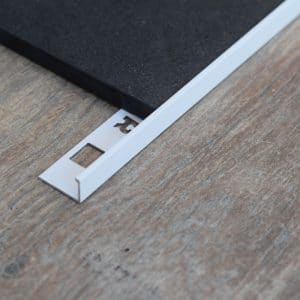 OX Tools Aluminium tegelprofiel L-vorm wit 2,70m lengte
