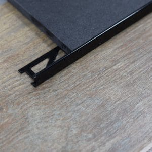 Aluminium tegelprofiel L-vorm zwart
