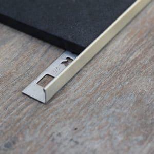 OX Tools RVS tegelprofiel L-vorm geborsteld 2,70m lengte