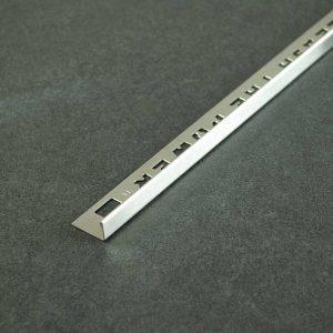 OX Tools Tegelprofiel Recht Geborsteld RVS - Lengte 2,70m