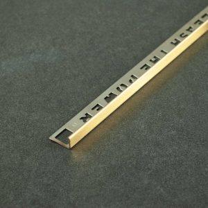 OX Tools Tegelprofiel Recht Goud Geborsteld RVS - Lengte 2,70m
