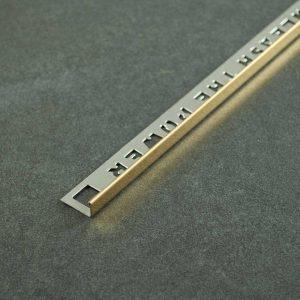 OX Tools Tegelprofiel Recht Goud RVS - Lengte 2,70m