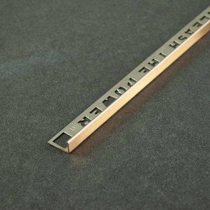 OX Tools Tegelprofiel Recht Rose Koper Geborsteld RVS - Lengte 2,70m
