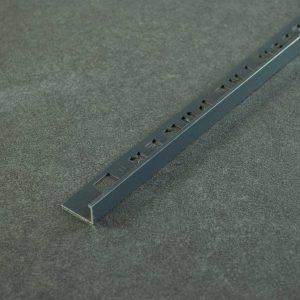 OX Tools Tegelprofiel Aluminium Recht Antraciet - Lengte 2,70m