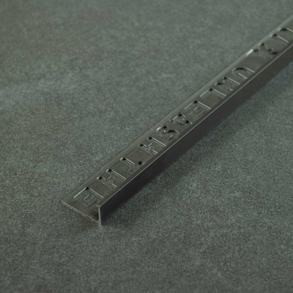 OX Tools Tegelprofiel Aluminium Recht Mat Zwart - Lengte 2,70m