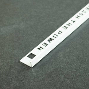 OX Tools Tegelprofiel Recht Aluminium Wit Gecoat - Lengte 2,70m