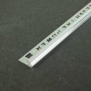 OX Tools Tegelprofiel Kwartrond Aluminium Hoogglans - Lengte 2,70m