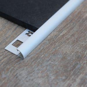 OX Tools Aluminium tegelprofiel kwart rond mat zilver