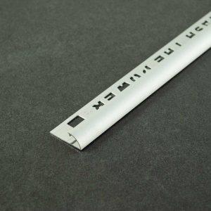 OX Tools Tegelprofiel Kwartrond Aluminium Mat Zilver - Lengte 2,70m