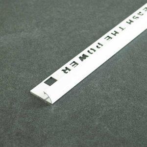 OX Tools Tegelprofiel Kwartrond Aluminium Wit Gecoat - Lengte 2,70m