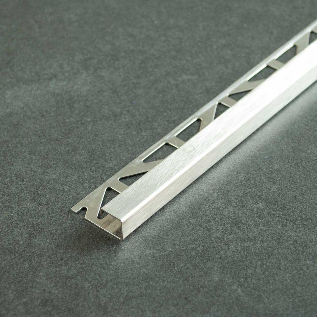 Tegelprofiel Geborsteld RVS Vierkant - Lengte 2,50m of 2,70m