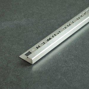 OX Tools Tegelprofiel Vierkant Geborsteld RVS - Lengte 2,70m
