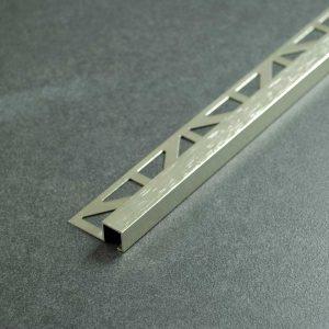 Tegelprofiel Geborsteld Aluminium Vierkant Donkergrijs - Lengte 2,50m