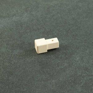 Hoekstuk Uitwendig/Inwendig Vierkant Aluminium Zand Beige Mat
