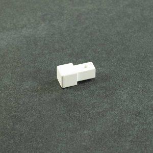 Hoekstuk Uitwendig/Inwendig Vierkant Aluminium Wit Mat