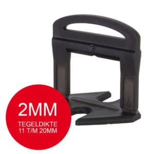 Rubi Delta Levelling Clips Extra Lang - 2mm