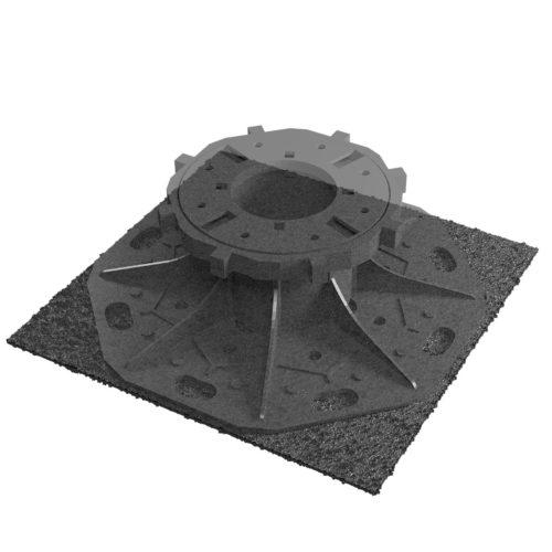 Tegeldrager Mat Rubber - 195 x 195 mm
