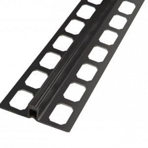 Dilatatie profiel PVC zwart 2,50 lengte 8mm
