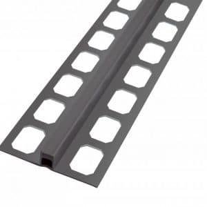 Dilatatie profiel PVC antraciet 2,50 lengte 8mm