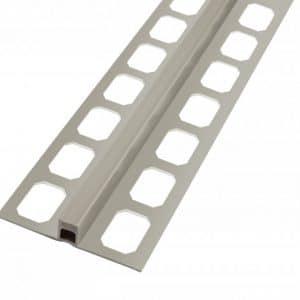 Dilatatie profiel PVC donkergrijs 2,50 lengte 8mm